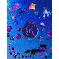 【预订】Starry Unicorns Notebook Monogram Series K: College Rule