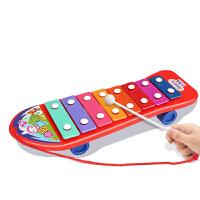 婴儿玩具音乐手敲琴儿童玩具宝宝益智男孩女孩0-1-2岁 拖拉敲琴