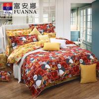 【年货直降】富安娜家纺 平网印花儿童四件套 动漫卡通纯棉床单被套