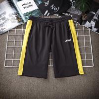 夏季男士运动短裤休闲晨练健身裤潮流韩版简约外穿户外针织沙滩裤