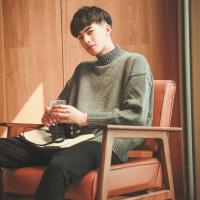 ins超火的冬季套头高领毛衣男士针织衫韩版潮流外套ulzzang慵懒风