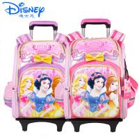 迪士尼公主书包女童太空拉杆书包中学生小学生儿童箱包可拆卸MB8148