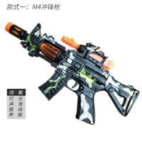 男童玩具枪2-3-4-5岁小男孩子电动声光仿真带音乐儿童左轮 款式1 迷彩枪