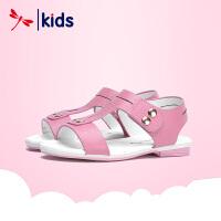 红蜻蜓童鞋女童凉鞋韩版夏季中大童小公主鞋真皮儿童凉鞋