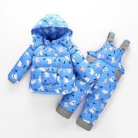 儿童羽绒服套装男女宝宝冬装外套小童1-3岁小童两件套童装反季 宝8712