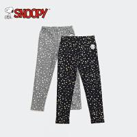snoopy/史努比童装冬装新款休闲裤中大童加绒外穿打底裤长裤女