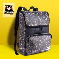 熊本熊kumamon新款学生休闲时尚满铺PU双肩包书包17KM114
