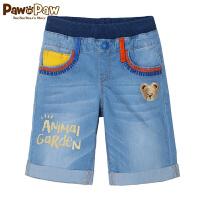 【1件3折 2件2.5折到手价:115】Pawinpaw宝英宝卡通小熊童装夏季款男童牛仔休闲短裤