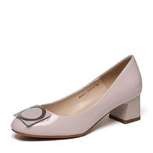 Belle/百丽2017春专柜同款时尚漆牛皮女单鞋BMQ11AQ7