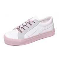 帆布鞋女学生韩版原宿风小白鞋女春季2018新款百搭板鞋子