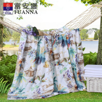 【暑期清凉季 爆款直降】富安娜家纺 艺术印花桑蚕丝夏被莱赛尔天丝印花蚕丝空调被