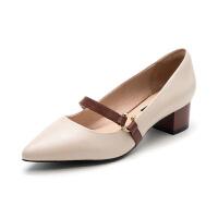 星期六(ST&SAT)专柜同款羊皮革尖头时尚玛丽珍单鞋SS83111417