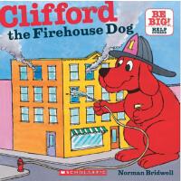 英文原版Clifford The Firehouse Dog (8X8) 大红狗当消防员