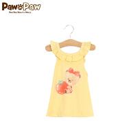 【1件3折 到手价:77】Pawinpaw宝英宝卡通小熊童装夏季款女宝宝无袖针织衫