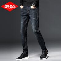 Lee Cooper秋冬男士英伦弹力直筒裤青年修身小脚裤新款韩版长裤
