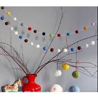 墙上装饰品墙贴圣诞缤纷彩球挂饰尼泊尔手工儿童房装饰摄影道具