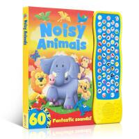 英文原版 Noisy Animals 认识动物 宝宝点读认知发声书 幼儿启蒙早教益智认知趣味玩具书0-3-6岁亲子共读