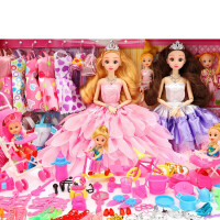 生日礼物笆比公主套装 音乐换装洋娃娃套装女孩公主大礼盒婚纱衣服儿童玩具别墅城堡 6D真眼12关节 送238个礼物