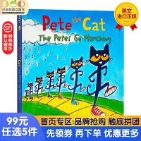 送音频 皮特猫英文原版纸板书 Pete the Cat:The Petes Go Marching