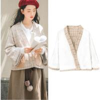 日系文艺学生两件套套装秋冬款斗篷软妹森女复古中长款毛呢连衣裙