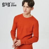gxg.jeans男装秋冬新品青年圆领套头休闲针织衫毛衫潮#64620160