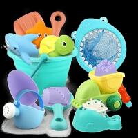 儿童沙滩玩具套装玩沙子挖铲子工具决明子宝宝戏水洗澡玩具