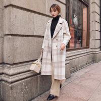 法式零羊绒双面呢大衣2018秋冬季高端女装赫本风毛呢外套YJ180129