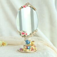 圣诞节礼物创意礼品 工艺礼品众时尚树脂化妆镜 可爱小熊梳妆镜4 粉红色