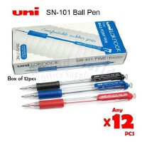 三菱笔SN-101圆珠笔 三菱圆珠笔SN-101(12支一盒)配套笔芯SA-7CN