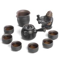 黑陶功夫茶具套装家用 茶壶茶海茶杯茶漏整套陶瓷茶具礼盒装