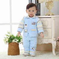 婴儿棉衣新生儿秋冬装男女宝宝棉袄外套保暖套装三件套