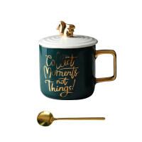 创意欧式陶瓷情侣杯子对马克杯带盖勺水杯卡通下午茶咖啡杯惊喜的创意礼物节日礼品