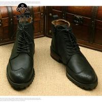 米乐猴 潮牌秋季男鞋高帮韩版潮流鞋靴男式短靴靴男靴子韩版男士棉靴男鞋