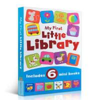 英文原版书绘本 My First little Library 6本小迷你书 first words/numbers/c