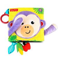 费雪 Fisher-Price 3D立体布书缤纷动物尾巴布书婴儿手偶宝宝手掌书幼儿早教启蒙玩具0