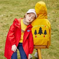 【2件3折:110】巴拉巴拉旗下 巴帝巴帝秋冬新款童装男童连帽外套中大童休闲短款风衣儿童洋气潮