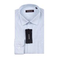 Youngor/雅戈尔男商务正装秋季新品蓝色条纹免烫长袖衬衫XP11316