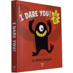 英文原版绘本 Twirl I Dare You! 精装 儿童启蒙立体触摸书 含哈哈镜 万圣节主题绘本