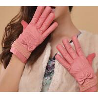 手套保暖冬季女可爱加绒骑车分指手套触摸屏手套