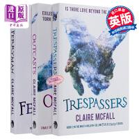 摆渡人 3册套装 全英文原版小说书 Ferryman Trespassers Outcasts 摆渡人+重返荒原+放逐者 克莱儿麦克福尔