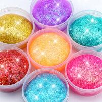 儿童彩色星空水晶彩泥橡皮泥套装无毒解压超大网红起泡胶幼儿玩具
