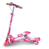 新款蛙式滑板车儿童三轮闪光剪刀双脚踏板滑滑轮车