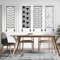几何图案挂毯玄关挂画电表箱挂布装饰房间床头布艺画