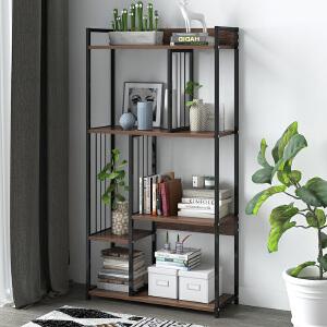 亿家达简易置物架简约现代落地式创意多功能花架学生家用客厅省空间书架