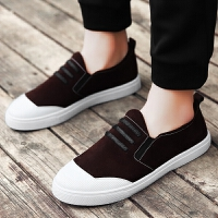 春季男鞋时尚休闲鞋男款韩版简约潮流板鞋青少年学生套脚帆布鞋子