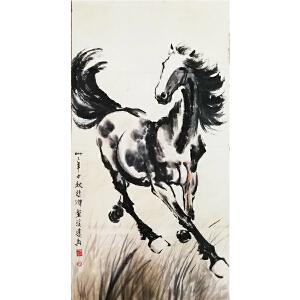 徐悲鸿《骏马图26》著名画家