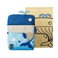 杯具熊beddybear儿童书包幼儿园3-12岁 可爱卡通双肩背包 鲸鱼