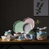 创意异形陶瓷器餐具家用个性碗碟套装组合简约碗盘子碗筷吃饭