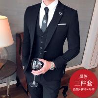 男士休闲新郎服装结婚西装男修身韩版西服套装职业夜场英伦风外套