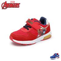 【99元2双】迪士尼Disney童鞋18新款儿童运动鞋漫威男童学生鞋网布透气炫酷休闲鞋 (5-10岁可选) VA309